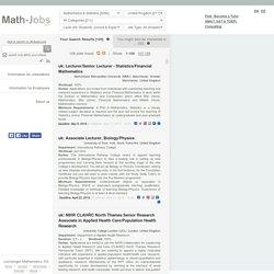 Mathematics & Statistics Jobs United Kingdom (UK)