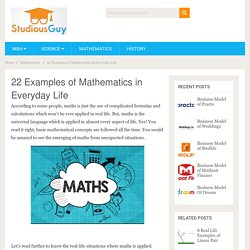 22 Examples of Mathematics in Everyday Life – StudiousGuy