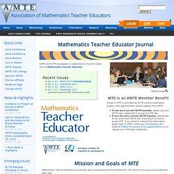 Mathematics Teacher Educator - An Online Journal