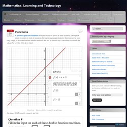 Mathematics, Learning and Technology