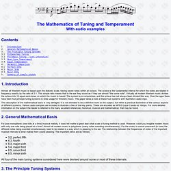 The Mathematics of Tuning & Temperament, with audio examples.