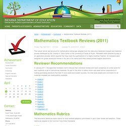 Mathematics Textbook Reviews (2011)