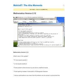 Mathematics Version 2.12