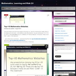 Top >10 Mathematics Websites