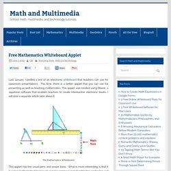 Free Mathematics Whiteboard Applet