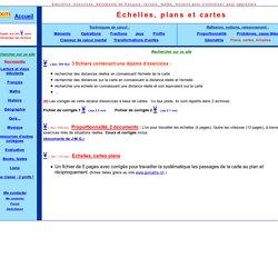 Mathématique, échelles, plans et cartes, aires, surfaces, exercices