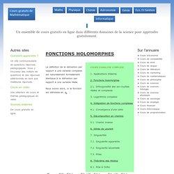 Cours de mathématique d'analyse complexe : fonctions holomorphes