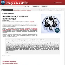 Henri Poincaré, L'invention mathématique