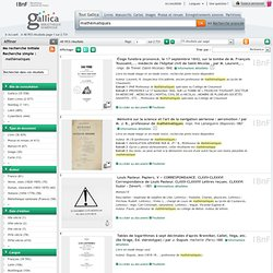 Gallica Recherche : mathématiques : 14964 résultats , page 1 sur