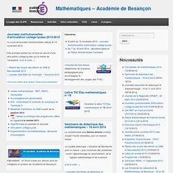 Mathématiques - Académie de Besançon