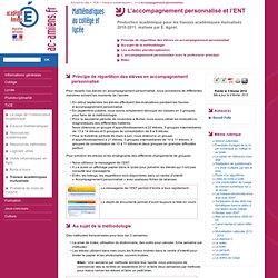 Académie d'Amiens - Mathématiques au collège et lycée - L'accompagnement personnalisé et l'ENT