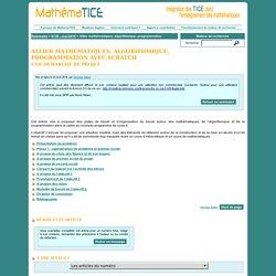 Allier mathématiques, algorithmique et programmation avec Scratch