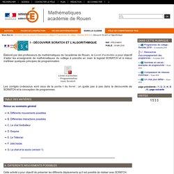 Mathématiques académie de Rouen - I - Découvrir Scratch et l'algorithmique