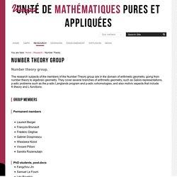 Équipe de théorie des nombres — Unité de mathématiques pures et appliquées de l'ENS de Lyon