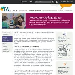 L'enseignement explicite : une stratégie d'enseignement efficace en lecture, en écriture et en mathématiques, pour les élèves ayant un trouble d'apprentissage