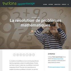 La résolution de problèmes mathématiques