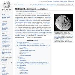 Mathématiques babyloniennes
