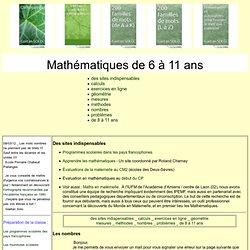 Mathématiques de 6 à 11 ans