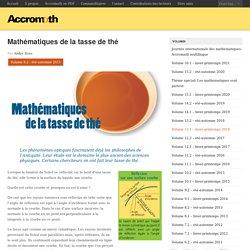 Mathématiques de la tasse de thé