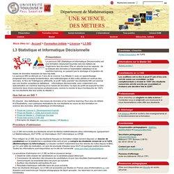 Département de Mathématiques - L3 Statistique et Informatique Décisionnelle