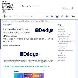 Les mathématiques avec Dédys, un outil d'inclusion