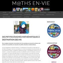 Des petites énigmes mathématiques à destination des MS – M@ths en-vie