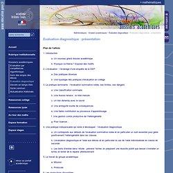 Evaluation diagnostique : présentation
