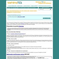 Les mathématiques en anglais dans des projets eTwinning
