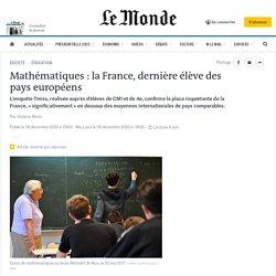 Mathématiques: la France, dernière élève des pays développés