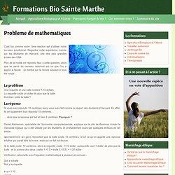 Formations Bio Sainte Marthe