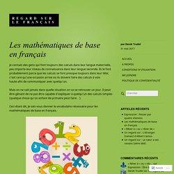 Les mathématiques de base en français – Regard sur le français