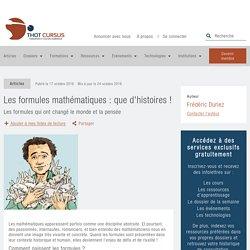 Les formules mathématiques : que d'histoires ! - Thot Cursus
