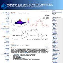 Mathématiques pour le DUT INFORMATIQUE - page personnelle de Philippe Roux enseignant à l'IUT de Lannion/Université de Rennes1