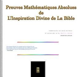 Preuves Mathematiques de l'Inspiration divine de la Bible