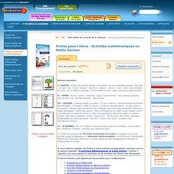 Maternelle PS : Fichier d'activits mathmatiques pour la maternelle petite section