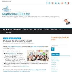 Plickers en mathématiques – MathemaTICEs.be