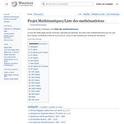 Projet:Mathématiques/Liste des mathématiciens