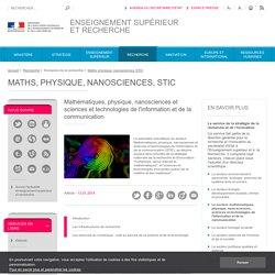 Mathématiques, physique, nanosciences et S.T.I.C.