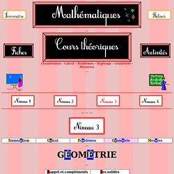 Cours de mathématiques - niveau 3 - Géométrie