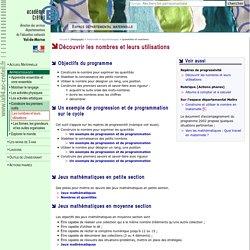 Espace départemental m@ternelle 94 - Mathématiques - Numération