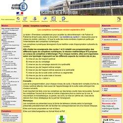 Pole mathématiques - articles - Comptines numériques