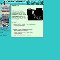 MATHS ET JEUX : Maths-rometus, Jeux, Maths, Mathématiques, Suites d'opérations originales, Nombres, Carrés magiques, Allumettes, Math, Jean-Luc Romet