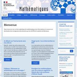 Mathématiques - Inspection Pédagogique Régionale - Académie de Bordeaux