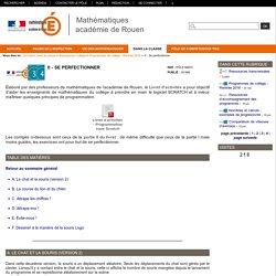 Mathématiques académie de Rouen - II - Se perfectionner