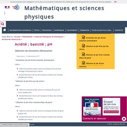 Mathématiques et sciences physiques