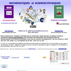 Mathematiques et sciences physiques avec Geogebra(Daniel Mentrard)