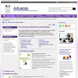 C 3 A : Éléments de mathématiques - Les principaux éléments de mathématiques