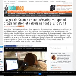 Usages de Scratch en mathématiques : quand programmation et calculs ne font plus qu'un !