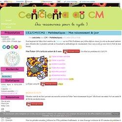 CE2/CM1/CM2 - Mathématiques - Mon raisonnement du jour