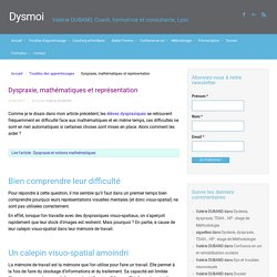 Dyspraxie, mathématiques et représentation